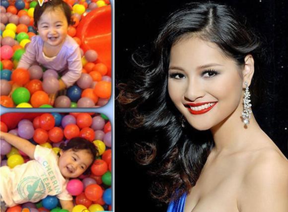 Hoa hậu Hương Giang khoe con gái 18 tháng đã nói được 3 thứ tiếng