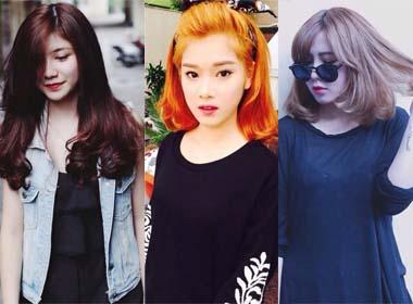 Những màu tóc nhuộm được hot girl Việt chọn cho phong cách ngày Thu