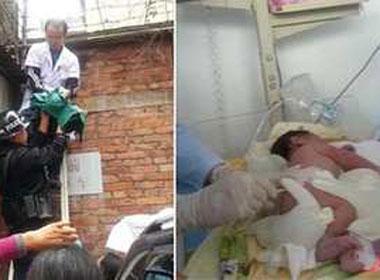 Bé sơ sinh bị ném từ tầng tư của bệnh viện
