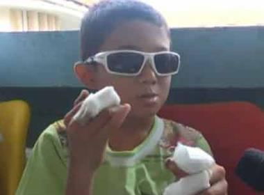 Video đứt tay, tổn thương mắt vì pin đồ chơi Trung Quốc nổ