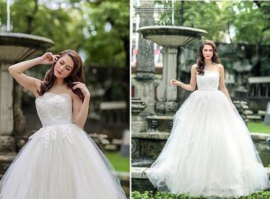'Mỹ nhân đẹp nhất Philippines' rạng ngời trong bộ váy cưới
