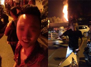 Bar Luxury cháy: Nam thanh nữ tú đua nhau chụp ảnh