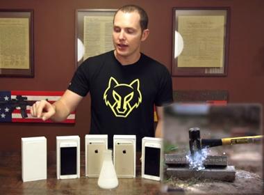 Iphone 6 bị 'hành hạ' bằng ni tơ lỏng và búa tạ