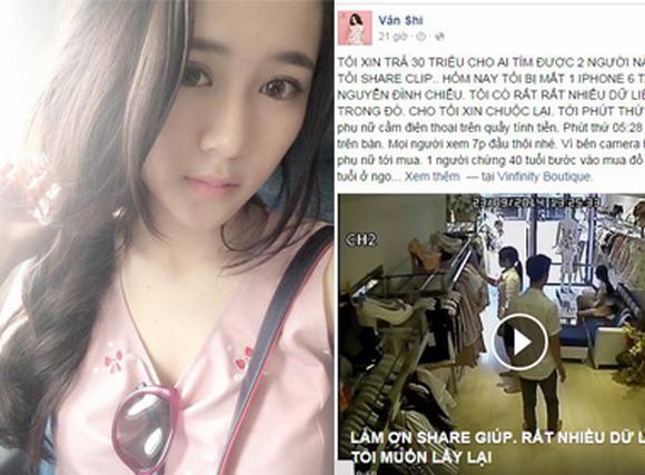 Hotgirl trà sữa Vân Shi trả 30 triệu cho ai tìm ra kẻ cắp Iphone 6