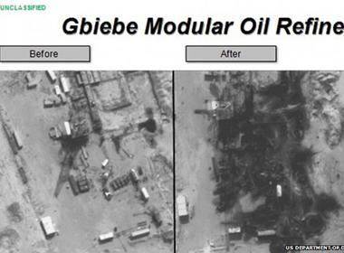 Bộ Quốc phòng Mỹ công bố hình ảnh oanh tạc mục tiêu IS