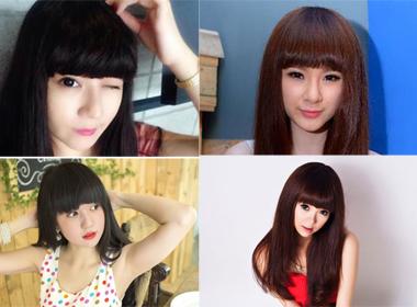 Cập nhật những kiểu tóc mái ngang mới nhất của Sao Việt