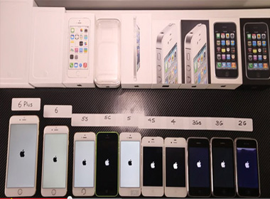 10 mẫu iPhone cổ, kim của Apple đọ tốc độ màn hình