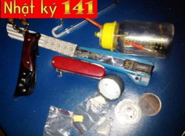 141 bắt đối tượng giấu ma túy trong chiếc 'đồng hồ cổ'