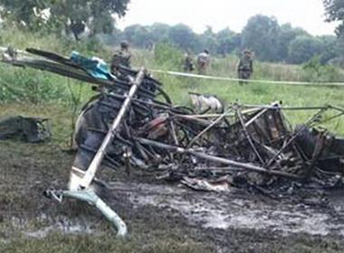 Trực thăng Ấn Độ rơi, 3 quan chức quân đội tử nạn