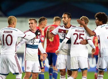 Hạ gục CSKA Moscow, Bayern thắng trận thứ 100 ở Champions League