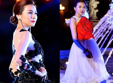 Thanh Hằng diện đầm kết hoa kiêu sa trên sàn diễn thời trang