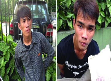 Hai thanh niên mang theo súng điện bỏ chạy khi gặp 141