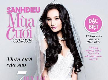 Cô dâu Lê Thúy quyến rũ, xinh đẹp trên tạp chí