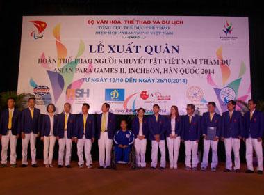 Đoàn Thể thao người khuyết tật Việt Nam sẵn sàng cho ASIAN Para Games 2