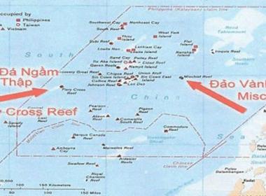 Tình hình biển Đông sáng 22/10: Trung Quốc đã bồi đắp Đá Chữ Thập thành đảo lớn nhất Trường Sa