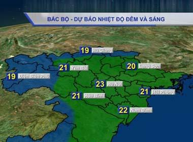 Dự báo thời tiết hôm nay (22/10): Không khí lạnh tràn về miền Bắc