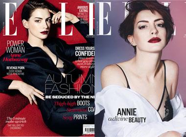 Anne Hathaway 'nóng bỏng' khi chụp ảnh tạp chí Elle UK