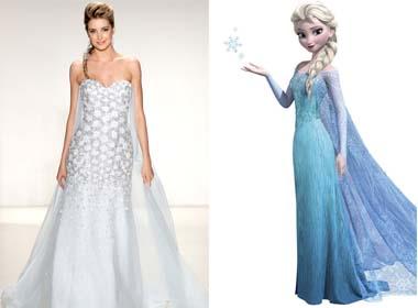 Hoá thành các nàng công chúa Disney với váy cưới Alfred Angelo 2014