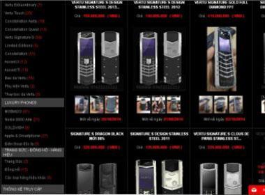 Hà Nội: Nhiều website bán điện thoại Vertu trái phép