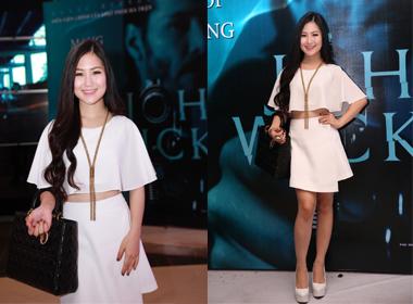 Hương Tràm diện đồ 'tông xuyệt tông' đi xem phim John Wick