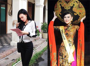 Cao Thùy Linh giản dị đi nộp phạt vì thi 'Hoa hậu chui'