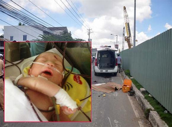 Vụ sản phụ bị xe trộn bê tông cán chết, con văng ra ngoài: Thảm nạn từ còi xe?