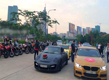 Dàn xe đắt tiền trong lễ cưới nữ ca sĩ Thu Thủy