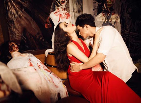 Rùng rợn với bộ ảnh Halloween của siêu mẫu Lê Thu An - Hải Thông