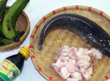 Cá kho chuối xanh, món ngon dân dã