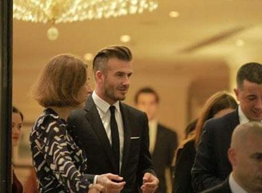 Beckham bảnh bao đi dự sự kiện ở Hà Nội