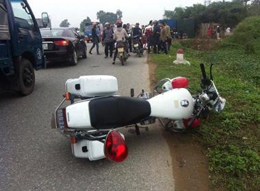 Chiến sỹ Cảnh sát giao thông hy sinh trên đường làm nhiệm vụ