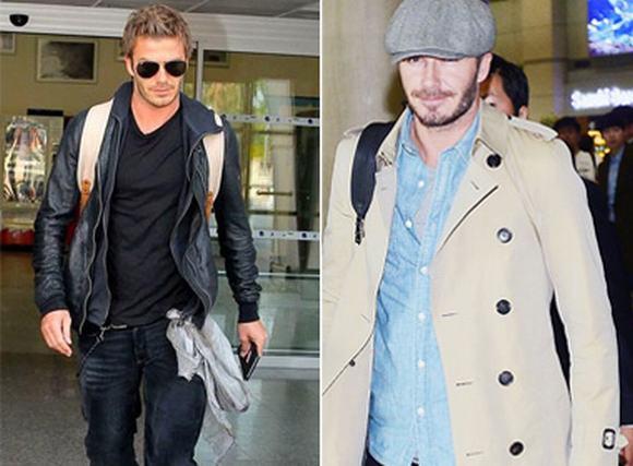 David Beckham 'đốn tim' fan bằng thời trang sân bay cực chất