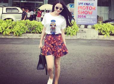 Ngắm street style xuống phố cực 'chất' của Trà Ngọc Hằng