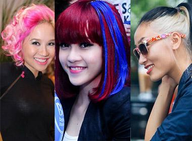 Điểm danh những kiểu tóc màu mè của các mỹ nữ Việt