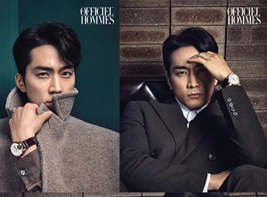 Song Seung Hun lịch lãm trên bìa tạp chí Officiel Hommes