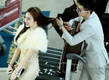 Angela Phương Trinh lộng lẫy như công chúa xuất hiện ở sân bay