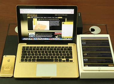 Chiêm ngưỡng iPad Air, Macbook & iPhone 6 mạ vàng tại Việt Nam