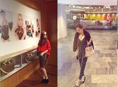 Angela Phương Trinh mặc sành điệu đi shopping ở Singapore