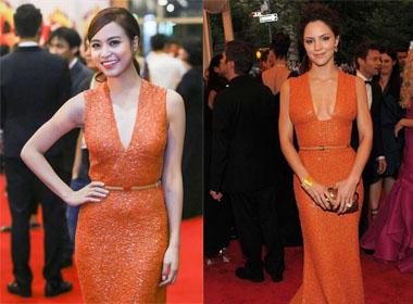 Hoàng Thùy Linh đụng váy với sao Hollywood tại Liên hoan phim Quốc tế