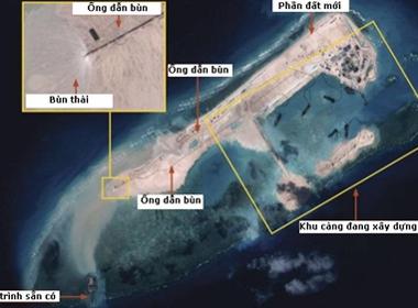 Trung Quốc ngụy biện việc cải tạo bãi đá ở Trường Sa