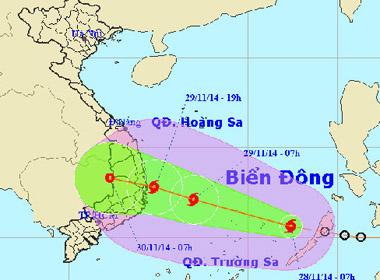 Bão số 4 Sinlaku hướng thẳng Bình Định – Khánh Hòa
