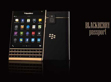 Mở hộp BlackBerry Passport mạ vàng tại Việt Nam