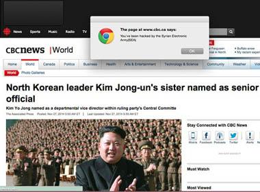 Hacker Syrian tấn công hàng loạt website báo chí lớn