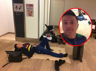 Cao Thái Sơn nằm vất vưởng ở sân bay