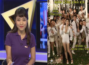 Ảnh chế: Thủy Tiên lộ ảnh nhạy cảm, nữ MC thể thao của VTV gây sốt