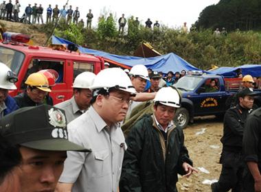Cập nhật Sập hầm thủy điện Đa Dâng: Phó thủ tướng Hoàng Trung Hải đã có mặt tại hiện trường