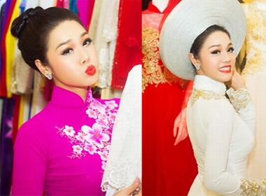 Nhật Kim Anh 'lẻ bóng' đi thử trang phục cưới