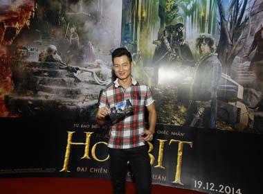 Ca sĩ Đức Tuấn trẻ trung tham dự ra mắt phim Người Hobbit