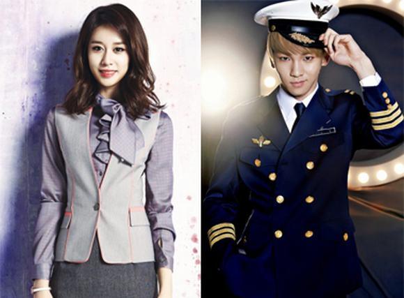 'Say' vẻ đẹp của sao Hàn trong trang phục tiếp viên hàng không
