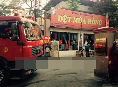 Hà Nội: Cháy tại Công ty cổ phần Dệt Mùa đông ở quận Thanh Xuân